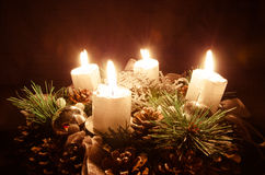 Advent candle Royalty Free Stock Photos