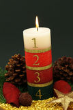 Advent Candle. Large advent candle with numbers for the last four weeks before christmas Royalty Free Stock Images