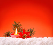 Advent candle. Royalty Free Stock Photography