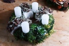 Advent candle wreath Stock Photos