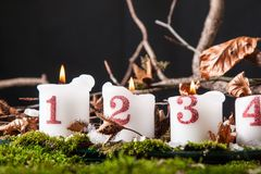 Advent Candles Lizenzfreie Stockfotografie