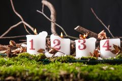Advent Candles Stockfotografie