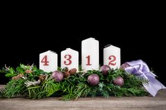 Advent Candles Stockfotos