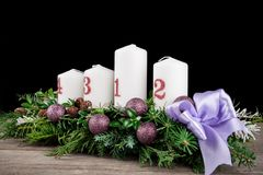 Advent Candles Lizenzfreie Stockfotos