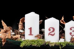 Advent Candles Lizenzfreie Stockbilder