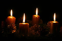 Advent candles Stock Images