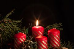 Advent Candles stock foto
