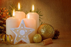 Advent Candles. Royaltyfri Bild
