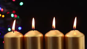 Advent Candles stock video