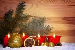 Advent Candles Imagen de archivo libre de regalías