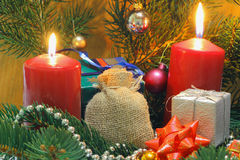 Advent Candles Photo stock