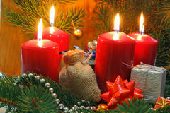 Advent Candles Fotos de archivo