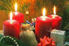 Advent Candles Royalty-vrije Stock Foto