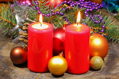 Advent Candles Lizenzfreie Stockfotos