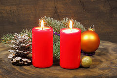 Advent Candles Stockbilder