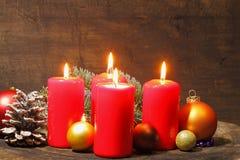 Advent Candles Fotografía de archivo libre de regalías