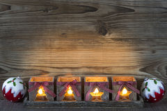 Advent Candles Stockfotos