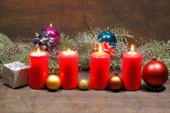 Advent Candles Lizenzfreie Stockbilder