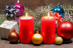 Advent Candles Stockbild