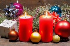 Advent Candles Stockbild