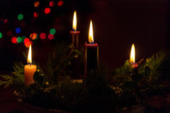 Advent Candles Image stock
