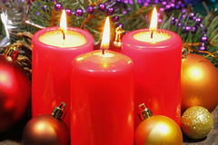 Advent Candles Fotografia de Stock