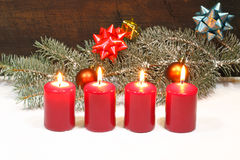 Advent Candles Stockfoto