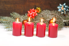 Advent Candles Imagenes de archivo