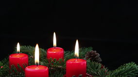 Advent Candles with Copy Space stock video footage