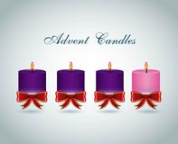 Advent candles design Stock Image