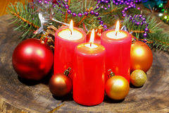 Advent candles Stock Image