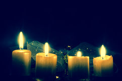 Advent candles Royalty Free Stock Photos