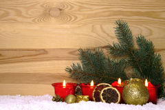 Advent candles. Royalty Free Stock Photo