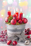 Advent candles Royalty Free Stock Photography