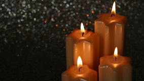 Advent Candles stock footage