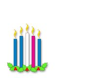 Advent Candles Horizontal Stock Photography