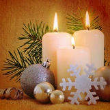 Advent Candles . Royalty Free Stock Photography