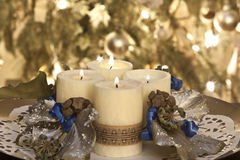 Advent candles Royalty Free Stock Photo