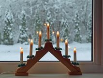 Advent candlestick 2 Royalty Free Stock Images