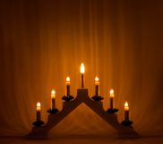 Advent candlestick Royalty Free Stock Photography