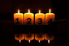 Advent candlestick Royalty Free Stock Photo