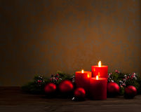 Advent Christmas-Kranz Stockbild