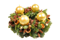 Advent Christmas-Kranz Lizenzfreies Stockbild