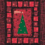 Advent Christmas Tree Greeting Card Background Stock Photo