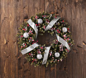 Advent Christmas wreath decoration Royalty Free Stock Photos