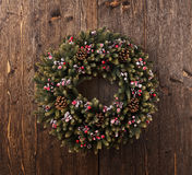 Advent Christmas wreath decoration Royalty Free Stock Photo