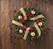 Advent Christmas wreath decoration Stock Image