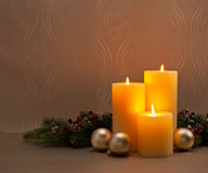 Advent Christmas wreath Royalty Free Stock Images