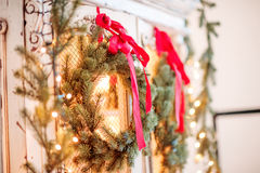 Advent Christmas wreath Stock Images