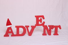 Advent contain letters Royalty Free Stock Photo